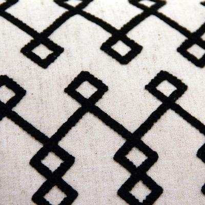 Black and Beige Diamond Cushion - Wedding Hire Wanaka - Major & Minor
