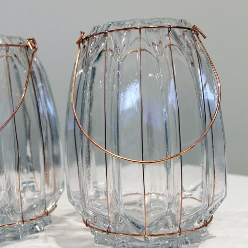 Copper Glass lanterns Hire Wanaka - Major & Minor