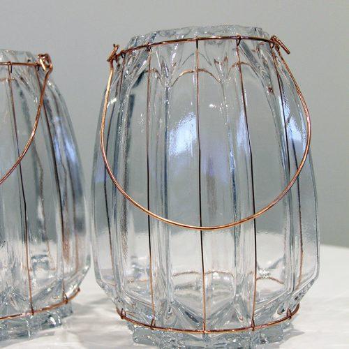 Copper Glass lanterns Hire Wanaka - Major & Minor