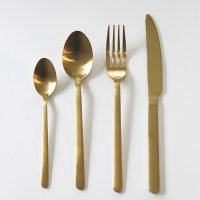 Gold Cutlery - Wedding Hire Wanaka - Major & Minor