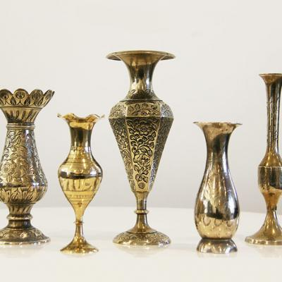Brass Vases - Wedding Hire Wanaka - Major & Minor