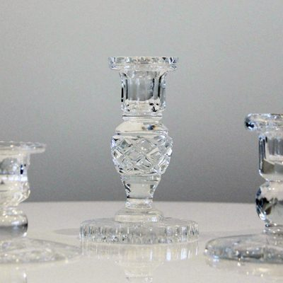 crystal candle sticks - Wedding Hire Wanaka - Major & Minor
