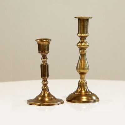 Brass Candle Sticks - Wedding Hire Wanaka - Major & Minor