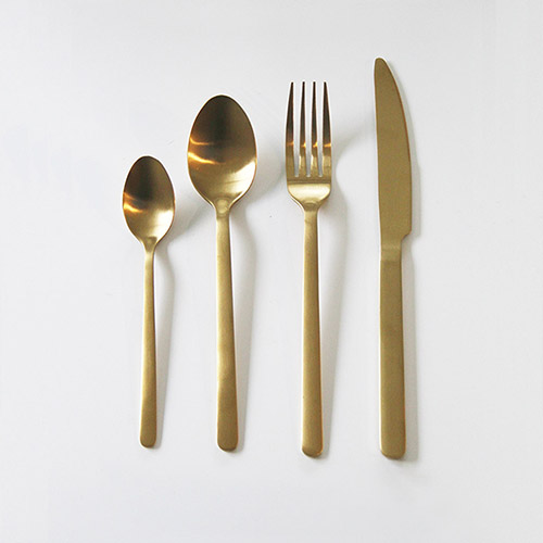 Gold Cutlery Hire Wanaka - Major & Minor