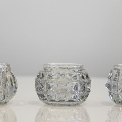 Cut glass tea light holders - Wedding Hire Wanaka - Major & Minor