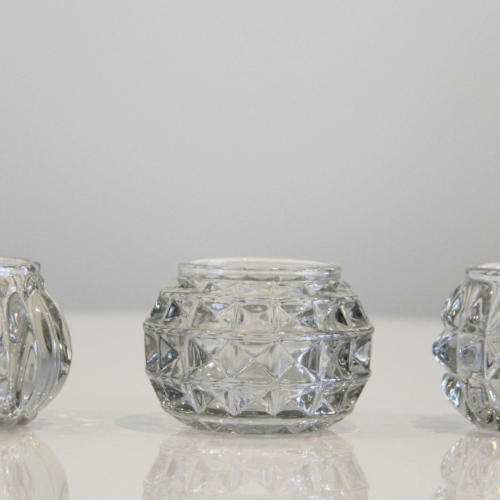 Cut glass tea light holders - Wedding Hire Wanaka - Major & Minor