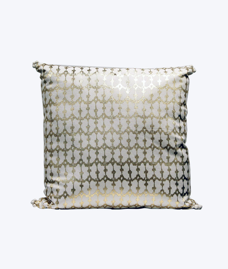 white and gold foil Cushion - Wedding