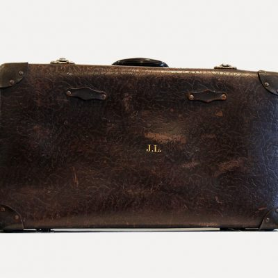 Large Brown Vintage Suitcase - Wedding Hire Wanaka - Major & Minor