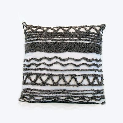White and Black textured Cushion - Wedding Hire Wanaka - Major & Minor
