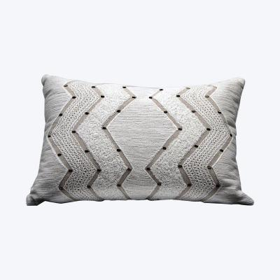 white and gold beaded Cushion - Wedding