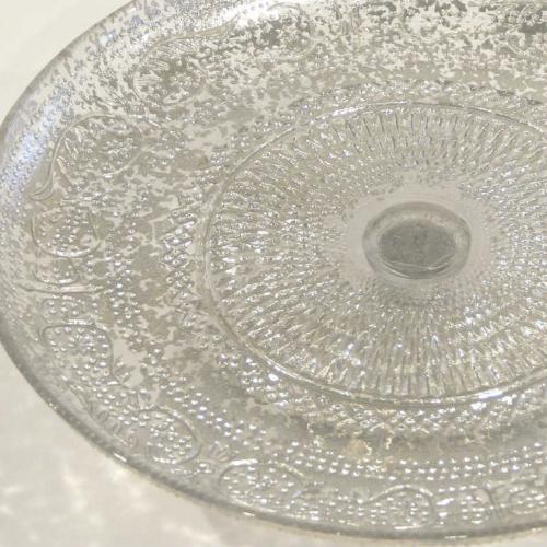 Antiquitarian Silver Cake Stand - Closeup - Major and Minor - Wedding and Party Hire Wanaka