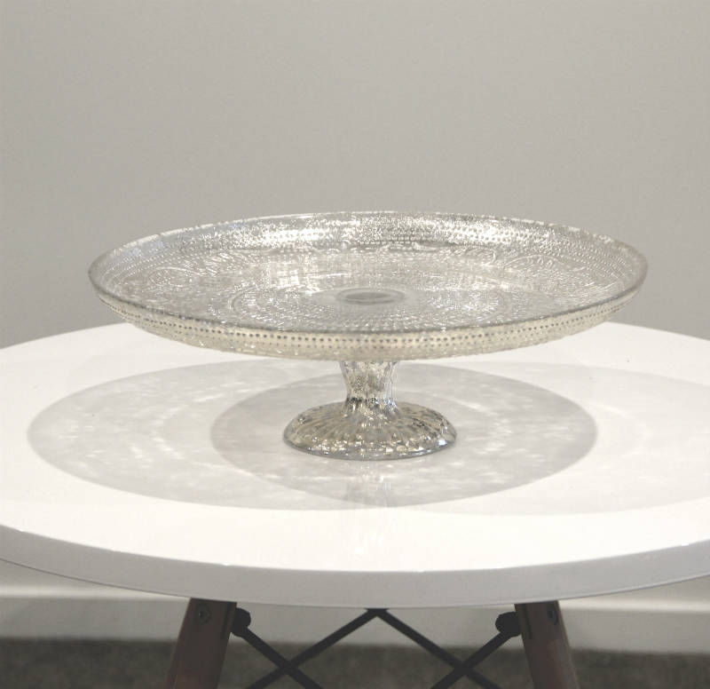 Antiquitarian Silver Cake Stand - Major and Minor - Wedding and Party Hire Wanaka