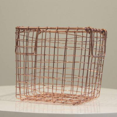 Wire Basket Rose Gold - Major and Minor Wedding Hire Wanaka