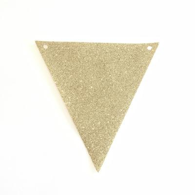 Bunting Gold Glitter - Major and Minor - Wanaka Wedding and Event Hire - Party and Wedding Hire