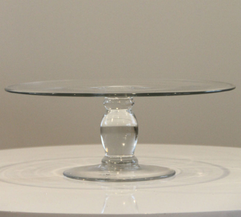 Clear Cake Stand - Major and Minor - Wedding and Party Hire Wanaka
