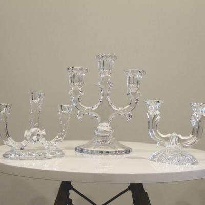 Crystal Candle Sticks 2 - Major and Minor - Wedding and Party Hire