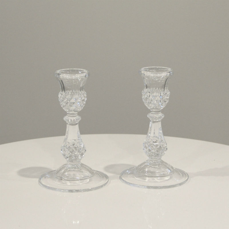 Crystal Candlesticks 2 - Major and Minor - Wedding and Party Hire
