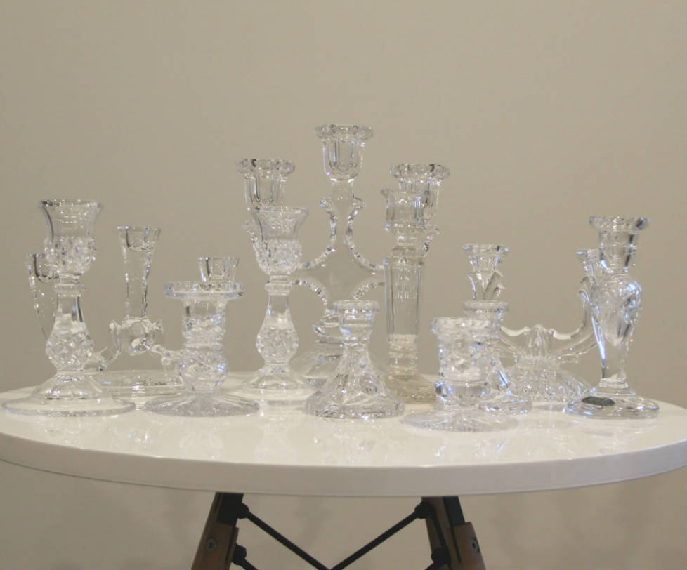 Crystal Candlesticks half 2 - Major and Minor - Wedding and Party Hire