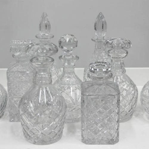 Crystal Decanters - Major and Minor - Wedding and Party Hire Wanaka