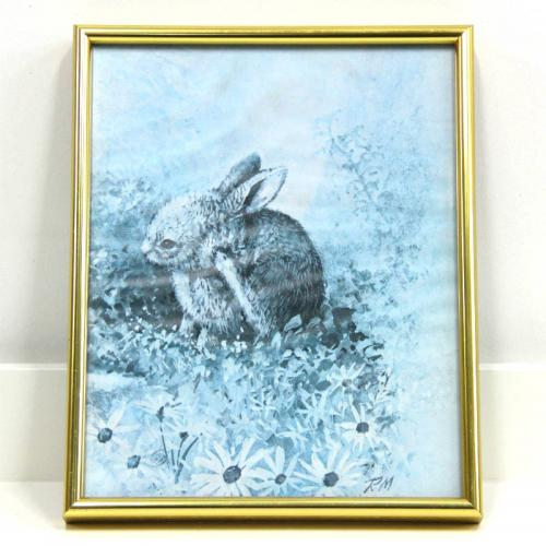 Framed Rabbit Picture - Children's Event and Party hire