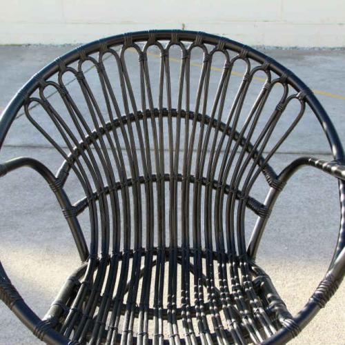Francis Chair - Black - Close up - Major and Minor - Wedding and Party Hire Wanaka