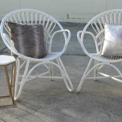Francis white cane chair - Major and Minor - Wedding and Party Hire Wanaka