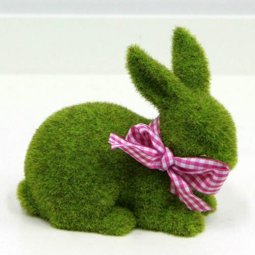 Grass Rabbit with Polka Dot Ribbon - Party Hire Wanaka - Major and Minor