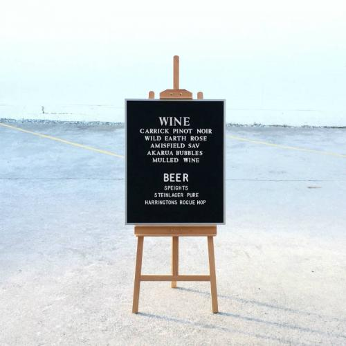 Letterboard - Major and Minor - Wedding and Party Hire Wanaka