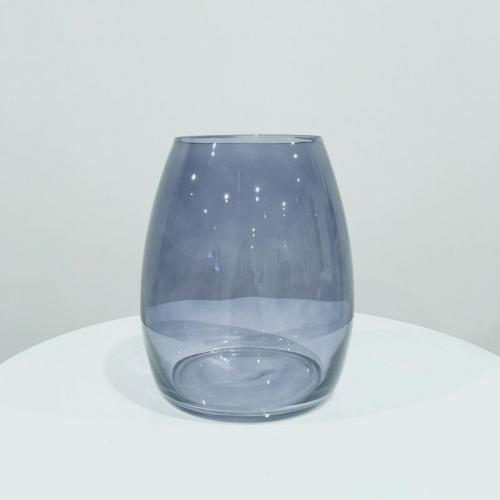 Louve Glass Vase Blue - Major and Minor - Wedding and Party Hire Wanaka
