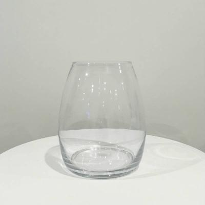 Louve Glass Vase Clear - Major and Minor - Wedding and Party Hire Wanaka