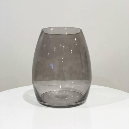Louve Glass Vase Grey - Major and Minor - Wedding and Party Hire Wanaka