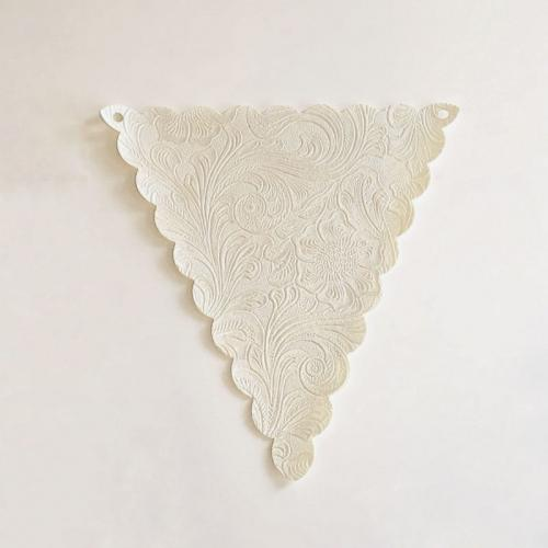 White Patterned Bunting - Major and Minor - Wanaka Wedding and Event Planning - Wedding Hire