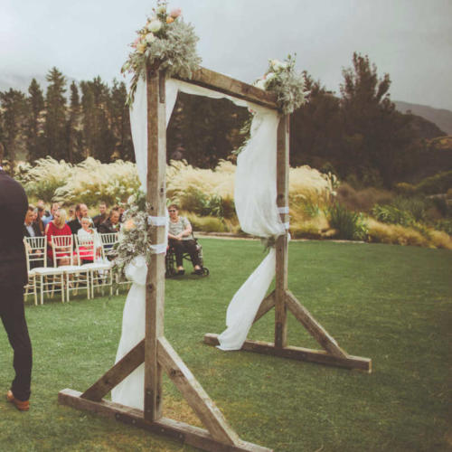 Wooden Arch Back - Major and Minor - Wedding and Party Hire Wanaka
