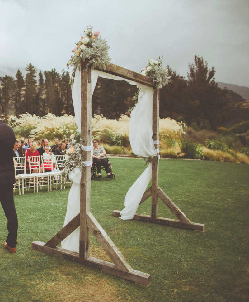 Wooden Arch Major And Minor Hire Wedding Events