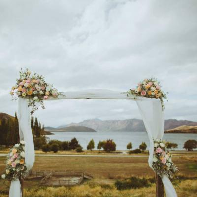 Wooden Arch Dressed - Major and Minor - Wedding and Party Hire Wanaka
