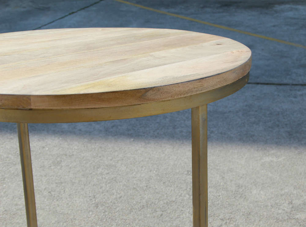 Wooden Top Table - Closeup - Major and Minor - Wedding and Party Hire Wanaka