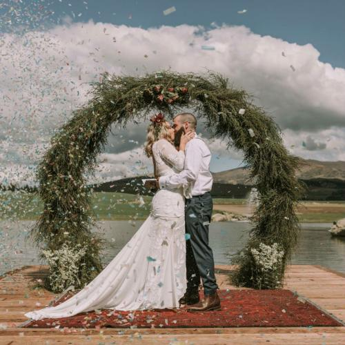 Rounded Arch dressed - Wanaka wedding hire - wedding archway - wedding inspo