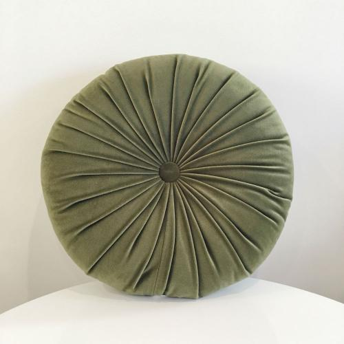 Round cushion - Olive - Wanaka Wedding Hire - Event Hire - Wedding Planning