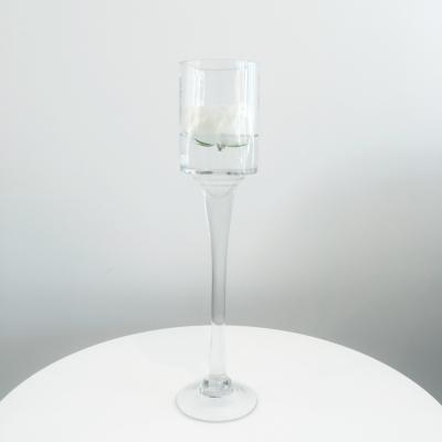 Stemmed Glass Candleholder - Large - Wanaka Wedding Hire - Wedding Hire Wanaka - Event Hire