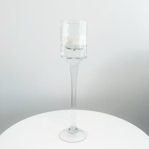 Stemmed Glass Candleholder - Large - Wanaka Wedding Hire - Wedding Hire Wanaka - Event Hire