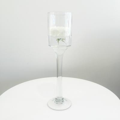 Stemmed Glass Candleholder Medium - Wanaka Wedding Hire - Wedding Hire Wanaka - Event Hire