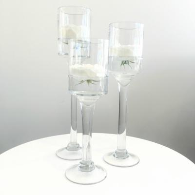 Stemmed Glass Candleholder - Wanaka Wedding Hire - Wedding Hire Wanaka - Event Hire