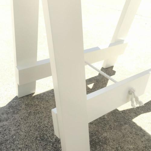 White trestle table - Feet - Wanaka Wedding Hire - Wedding Hire Wanaka - Event Hire