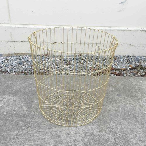 Gold Wire Basket Large - Major and Minor - Wedding Hire - Wanaka Hire - Events and Weddings