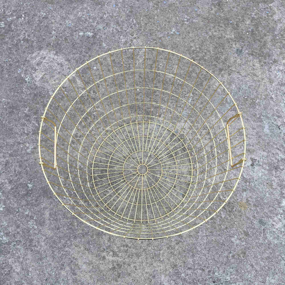 Gold Wire Basket Top - Major and Minor - Wedding Hire - Wanaka Hire - Events and Weddings