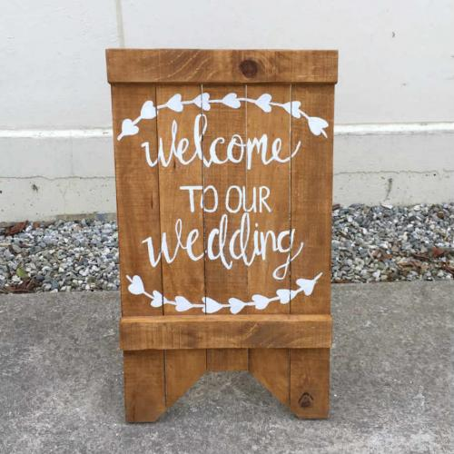 Wedding sign - Major and Minor - Wedding Hire - Wanaka Hire - Events and Weddings
