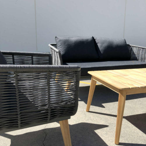 Outdoor lounge setting - close up - Wanaka wedding hire - Queenstown wedding hire