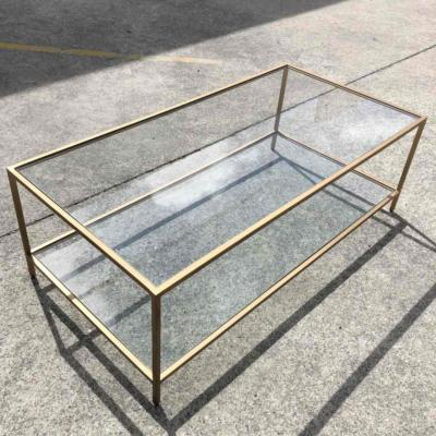 Glass Brass Rectangle Table Angle _ Wanaka Wedding Hire _ Major and Minor Hire Wanaka
