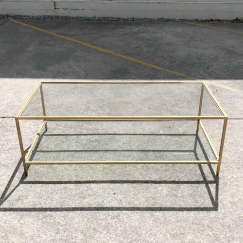 Glass Brass Rectangle Table _ Wanaka Wedding Hire _ Major and Minor Hire Wanaka