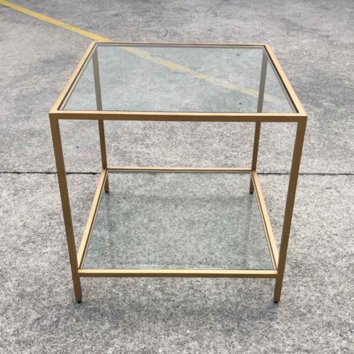 Glass Brass Table Square _ Wanaka Weddings and Events _ Major and Minor Hire